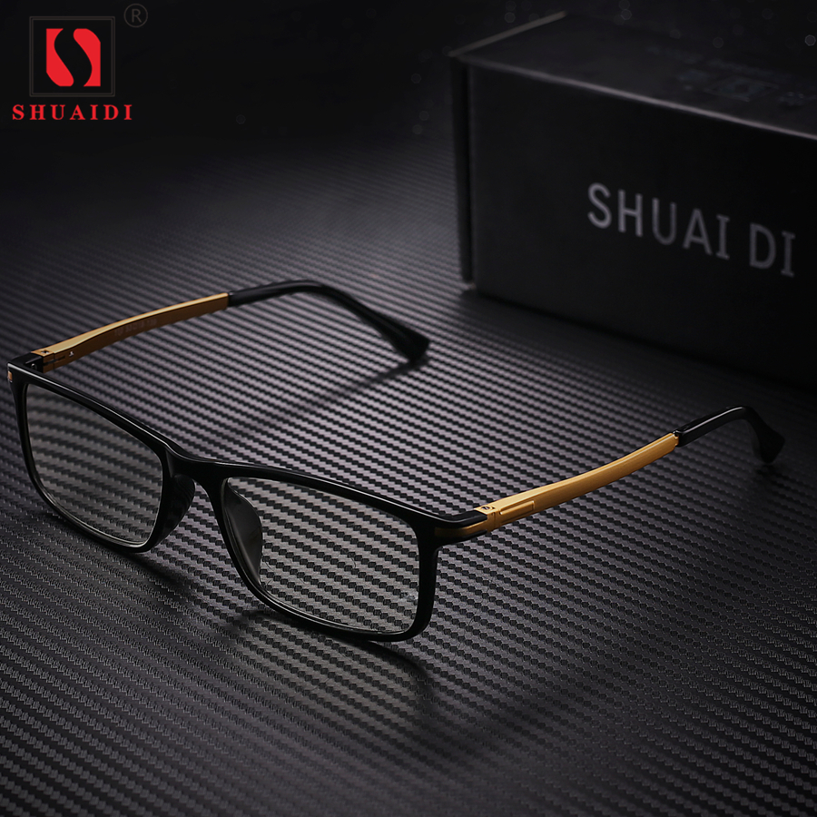 Men Women Reading Glasses Ultra Light Resin Lenses Presbyopia Anti Blue Rays Alloy Frame Unisex Eyewear +1.0 to +4.0