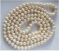 "Freshwater Cultured Pearl Necklaces 8-9mm long 35"" Cream Color Freshwater Cultured Pearl Necklace"