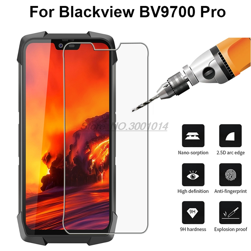 Ultra-thin Tempered Glass For Blackview BV9700 Pro Screen Protector 9H Thoughed Protective Phone Film For Blackview BV9700 Pro *