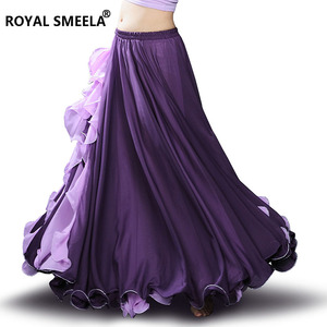 Image 4 - Hot Sale Women Chiffon High quality New bellydancing skirts belly dance costumes Belly dance dress Lotus leaf performance skirt