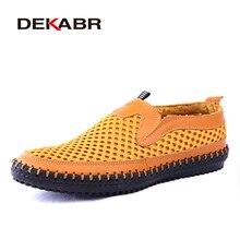 DEKABR 2019 Summer Breathable Hollow Shoes Soft Comfortable Men's Casual Shoes Fashion Footwear Shoes Men Big Plus Size 38~48