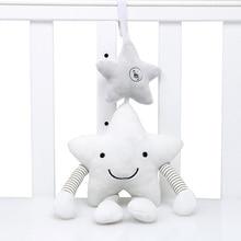 Yeni bebek oyuncakları arabası müzik yıldız beşik asılı yenidoğan cep çıngıraklar yatak bebekler eğitici peluş oyuncaklar