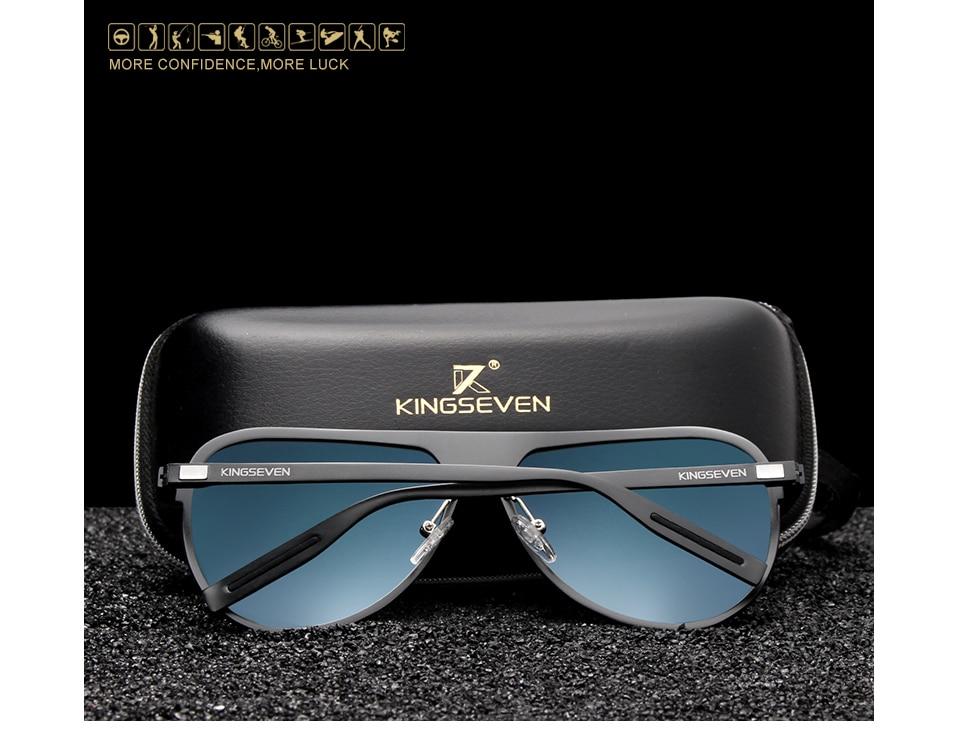 KINGSEVEN Brand Designer Polarized Men's Glasses Aluminum Luxury Sunglasses For Men Driving Eyewear UV400 Protection