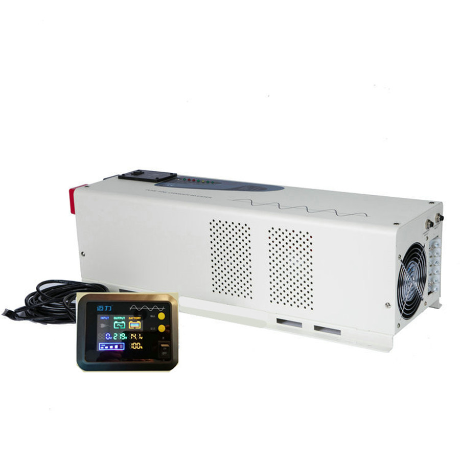 Home Application and Normal Specification Off grid solar power hybrid inverter 5000w inversor with battery charger and LCD
