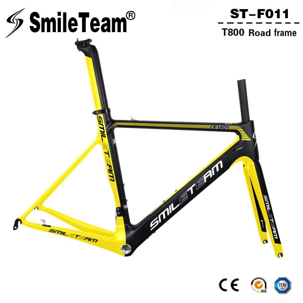 Smileteam 2018 New Full Carbon Break Wind Road Bike Frame Di2 & Mechanical Racing Bicycle Carbon Frameset For Carbon Road Bike smileteam 2018 new carbon fiber road bike frame di2