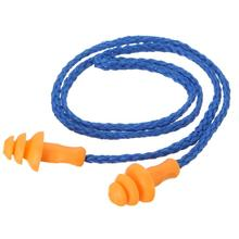 5Pairs Ear Protector Earplugs Reduce Sleep Snoring Noise Earplug Soft Silicone Corded Earmuff For Swimm learn Hearing Protection