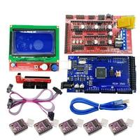 1set 3D Printer Kit 1pcs Mega 2560 R3 1pcs RAMPS 1 4 Controller 5pcs DRV8825 Stepper