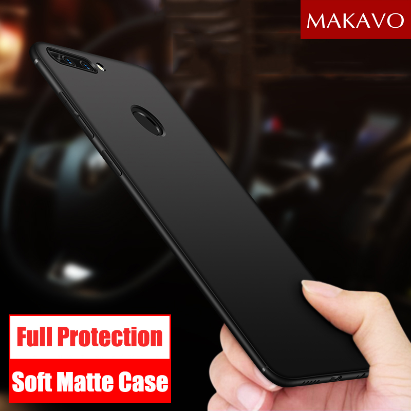 MAKAVO Cover For Huawei Honor 9 Lite Case Soft Silicone Matte Phone Cases For Huawei Honor 8 Pro Lite V9 Honor 9 Lite P10 Plus
