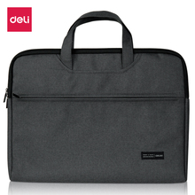 Deli briefcase portable file bag durable high capacity laptop double layer business officially work good quality