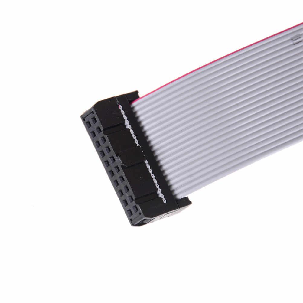 """5 יח'\חבילה 20 ס""""מ FC-20P 2.54 מ""""מ המגרש JTAG AVR להוריד כבל חוט מחבר אפור סרט שטוח כבל נתונים"""