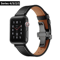 ASHEI Watchband For Apple Watch Series 4 Band 44mm 40mm Genuine Leather Wrist Strap Bracelet for iwatch Series 3/2/1 38mm 42mm