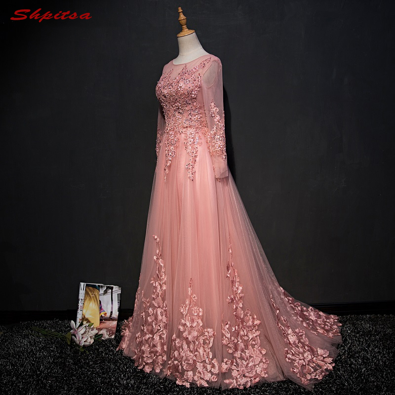 Trend Long Sleeve Lace   Evening     Dresses   Elegant Occasion Party Women Prom Formal   Evening   Gowns   Dresses   Wear 2018