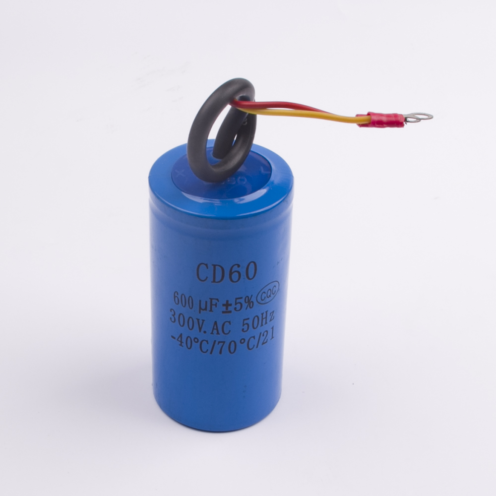 Buy Cd60 300uf 250v Ac Starting Capacitor For Heavy Start Wiring 600uf 300v Duty Electric Motor Air Compressor Red Yellow Two