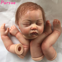 Pursue 21 100% Handmade Realistic 20 22 Reborn Doll Kits with Reborn Baby Doll Kits with Rooting Hair Painted Kits Close Eyes