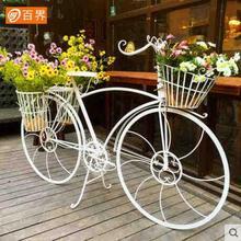 Creative wedding props, window decorations, European-style retro iron art landing bicycle frame