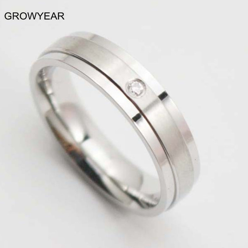 engagement ring stores hot sale cheap wedding bands crystal setting unisex silver wedding and engagement rng - Wedding Ring Stores