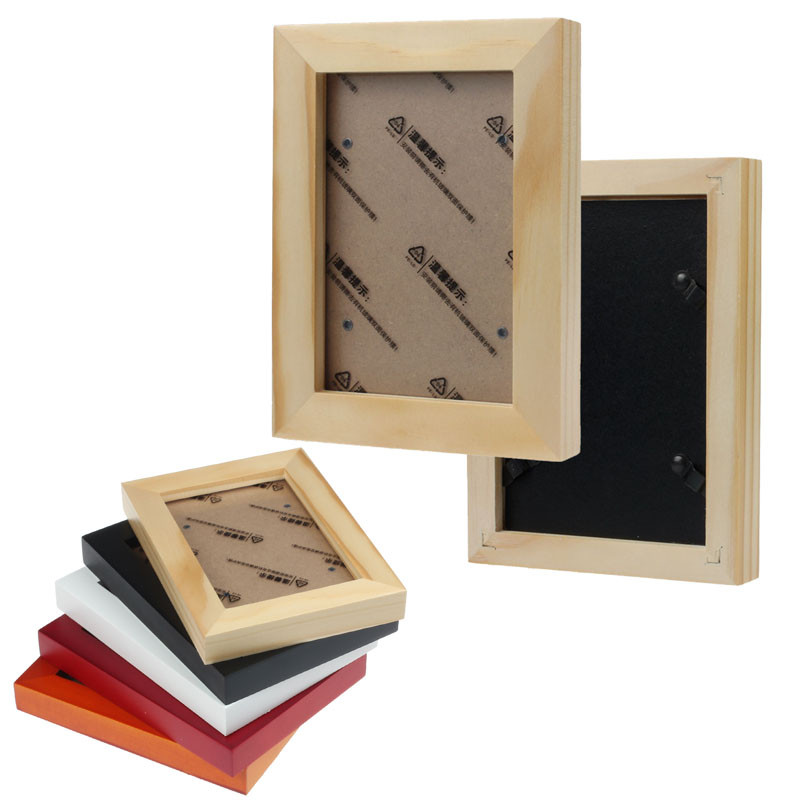 new classic home decor wooden picture frame wall mounted hanging photo frame cases wood material on