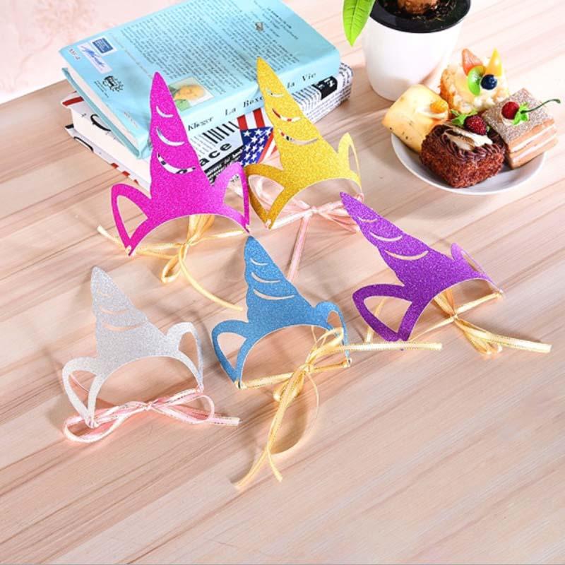 Kids Toy Birthday Hat Creative Fashion Unicorn Baby Boy Girl Birthday Party Decor Party Supplies Accessorie Head Gear