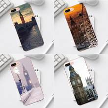 Qdowpz London Big Ben With Aluminum Frame For iPhone X XS Max XR 4 4S 5 5C SE 6 6S 7 8 Plus Galaxy A3 A5 J1 J3 J5 J7 2017(China)
