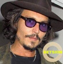 b57698c6b1 BETSION Vintage johnny depp Sunglasses Full Rim Retro Eyeglass frame sun  glasses men