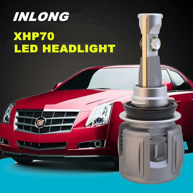 INLONG H4 Car LED Headlight Bulb H7 H11 H8 9005 9006 HB4 D4S D2S D1S Original