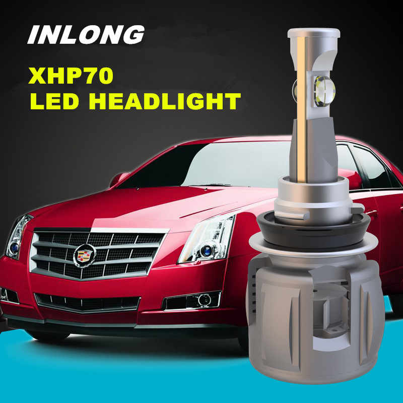 INLONG H4 Car LED Headlight Bulb H7 H11 H8 9005 9006 HB4 D4S D2S D1S Original XHP70 Chips 120W 15600LM Headlamp Fog Lights 6000K