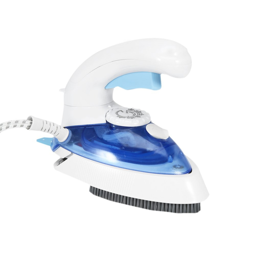 Mini Portable Foldable Electric Steam Iron For Clothes With 3Gears Teflon Baseplate Handheld Flatiron For Travelling EU Plug 220v 600w 1 2l portable multi cooker mini electric hot pot stainless steel inner electric cooker with steam lattice for students