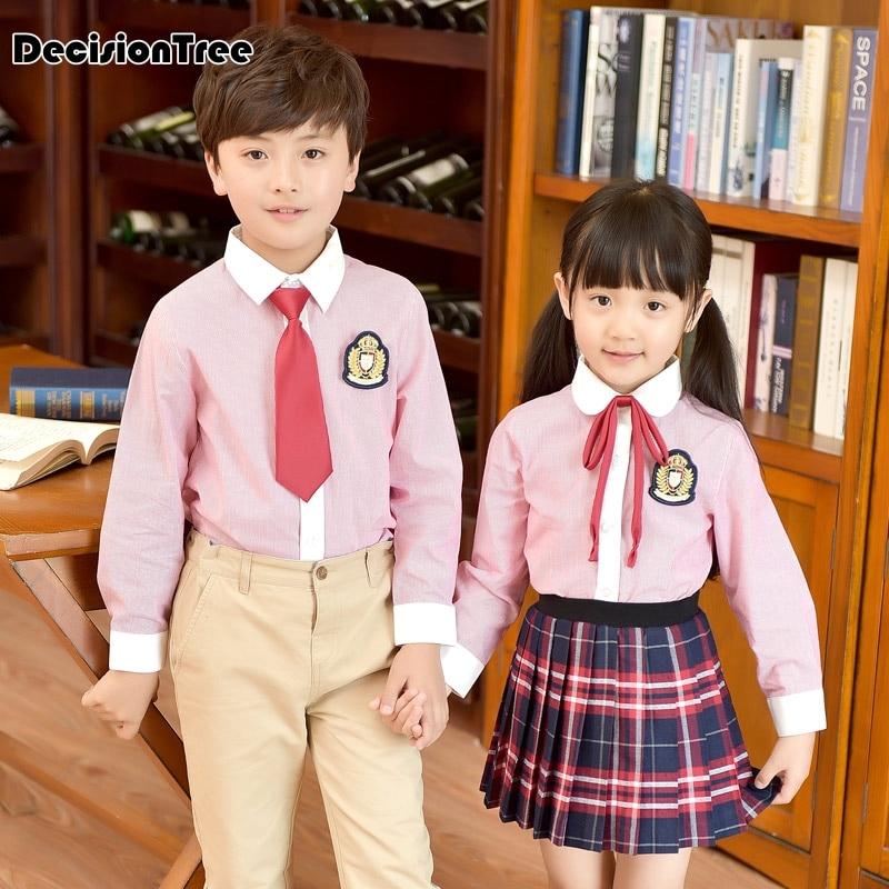 2019 nouveaux enfants uniformes japonais école coréenne pour fille garçons marine style hauts jupe shorts cravate enfants étudiant vêtements tenue
