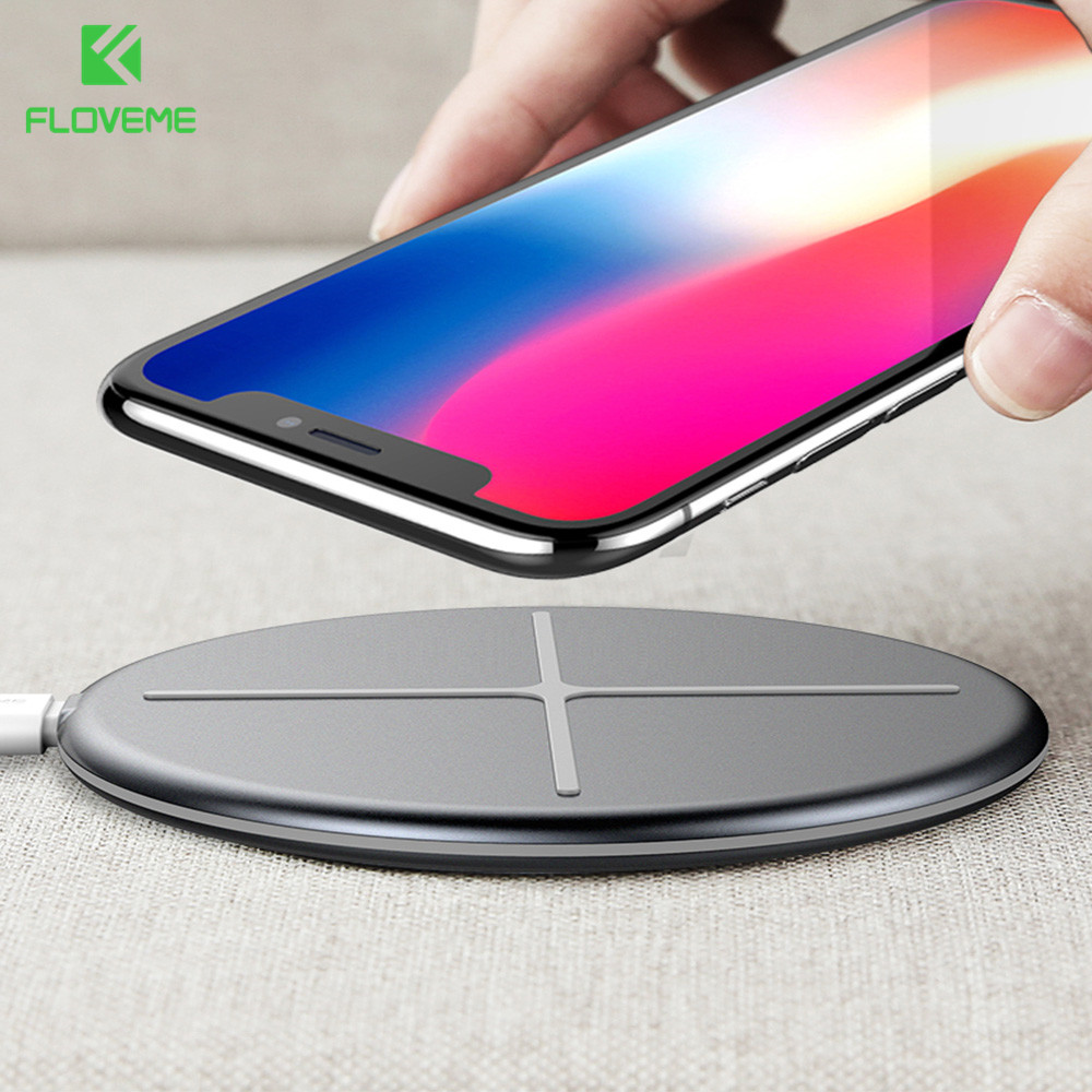 FLOVEME For iPhone 8 Wireless Charger 10W Qi Wireless Car Charger Fast Wireless Charging For iPhone X 9 Plus 8 Samsung Note 9 8
