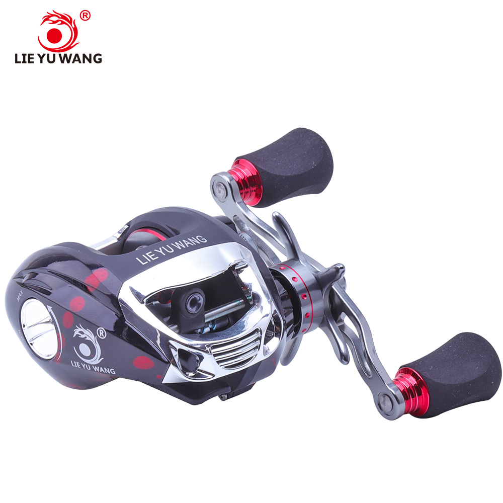 LIEYUWANG Baitcasting Fishing Reel 6.3:1 High Speed Gear Ratio Bait Casting Reel Left and Right Hand Bait Casting Fishing Reels fishdrops baitcasting reel 18 ball bearing carp fishing left right hand bait