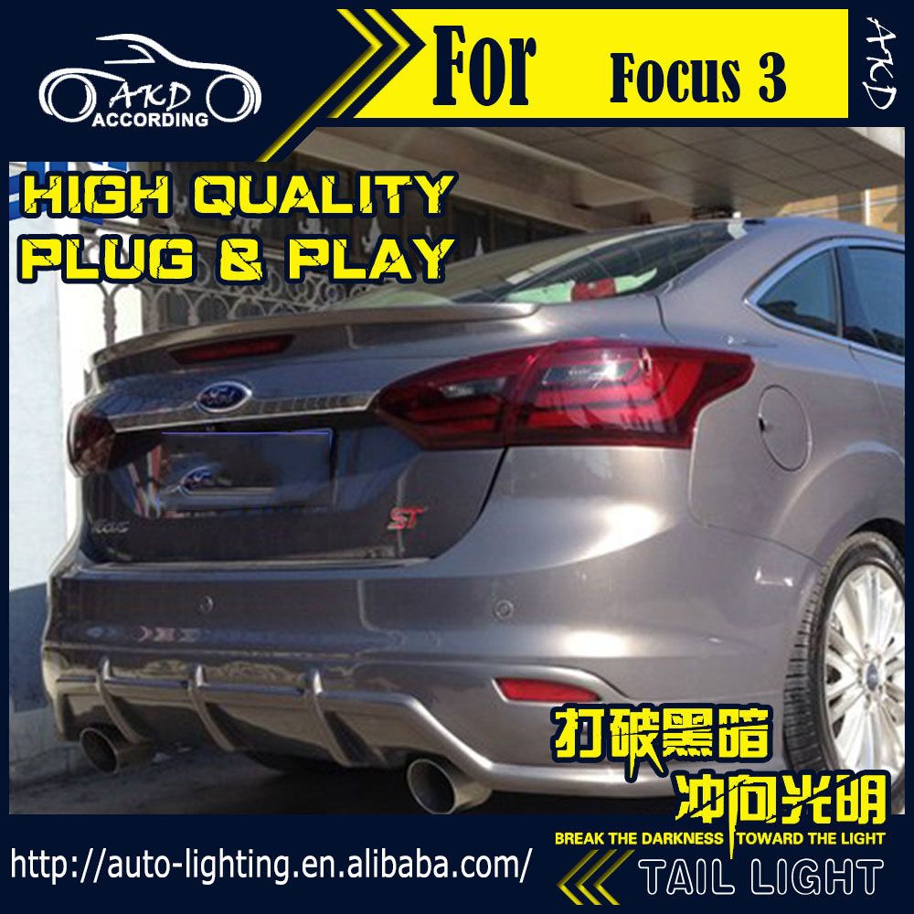 AKD Car Styling Tail Lamp for Ford Focus Tail Lights 2012 Sedan LED Tail  Light LED Signal LED DRL Stop Rear Lamp Accessories-in Car Light Assembly  from ...