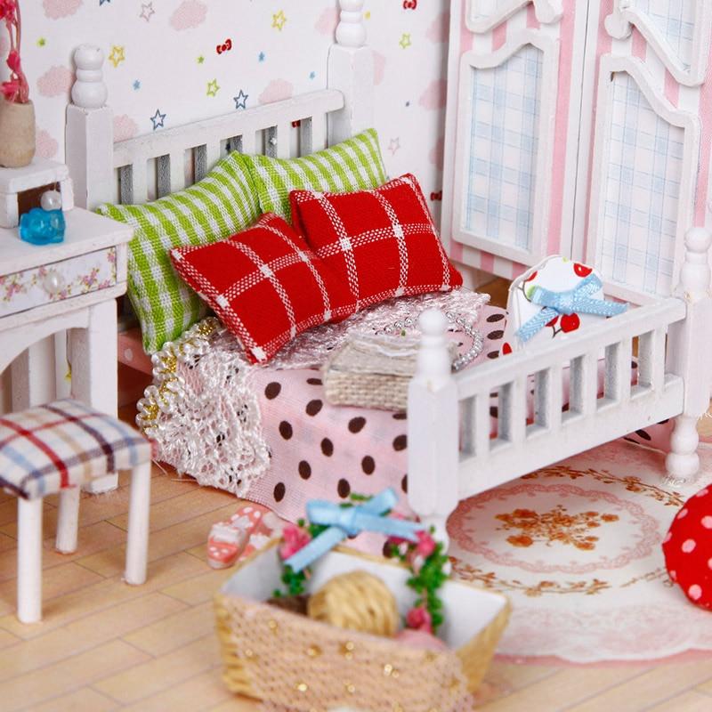 Muñeca de madera muebles de casa DIY casa de muñecas Kit de - Muñecas y peluches - foto 5