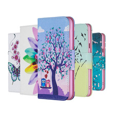 Painted TPU Leather Flip Case For Samsung A20E A70 A50 A40 A30 A20 A10 E Wallet Cover Galaxy A8 A6 Plus A7 2018