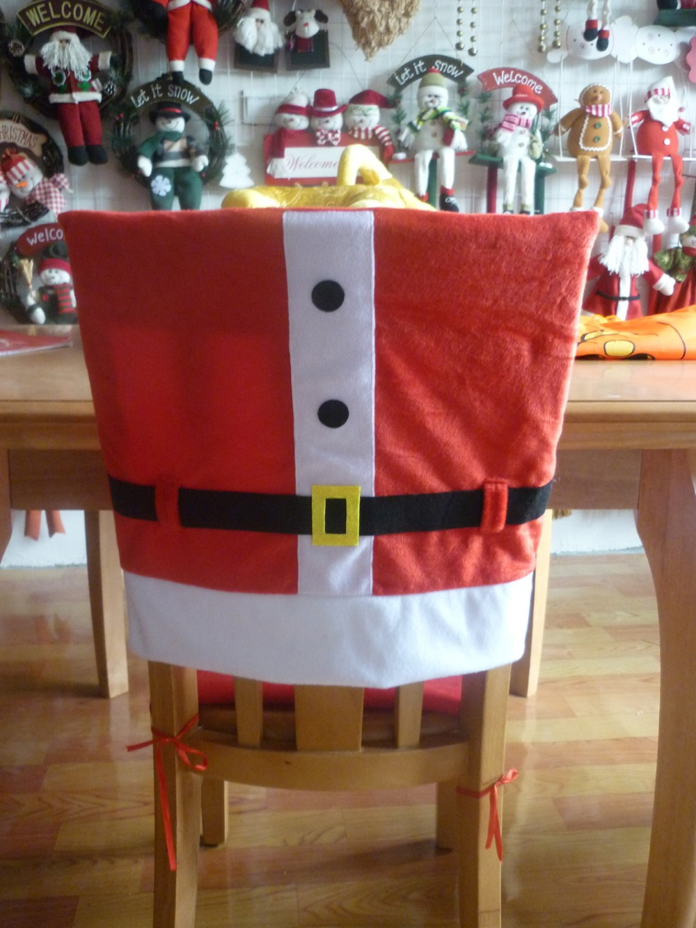 Christmas chair covers - Aliexpress Com Buy Merry Christmas Chair Covers Adornos Navidad Snowman Christmas Chair Covers Enfeites De Natal Arvore De Natal From Reliable Natal