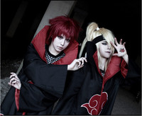 Hot Sale Anime Naruto Akatsuki Uchiha Itachi Cosplay Halloween Christmas Party Costume Cloak Cape