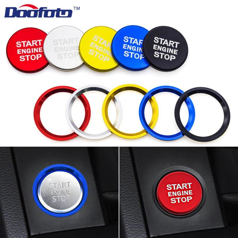 Doofoto Car Styling Car Engine Start Button Cover Ring Sticker Fit For Audi A4 A5 B9 A6 A7 A6L Q3 Q7 C7 BT 2019 Auto Accessories