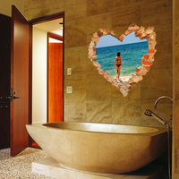 NEW Large 3d Cosmic Beach Sea Love Wall Sticker Star Home Decoration For Kids Room Floor Living Room Wall Decals Home Decor