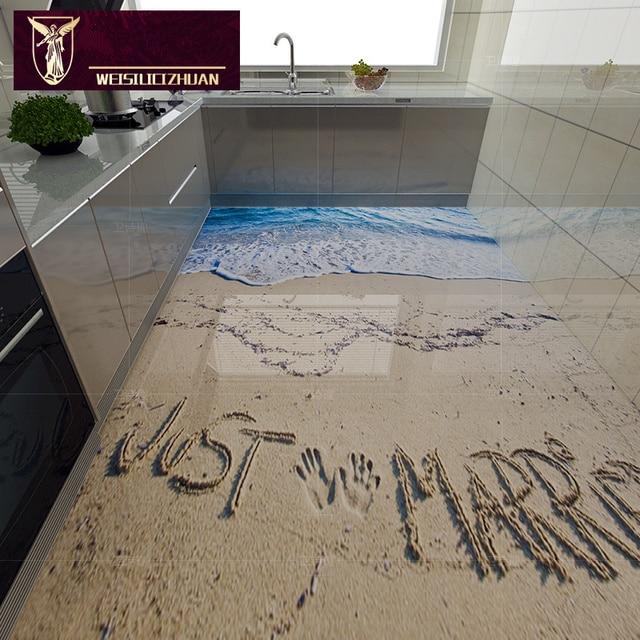 Romantic beach 3D floor tiles 3D ceramic tile Best quality 8D ...