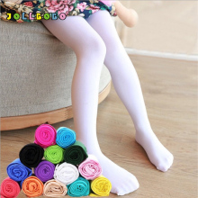 Girls Kids Tights Spring Autumn Candy Color Soft Velvet White Stockings 80d Shiny Child Pantyhose Footed Ballet Dance