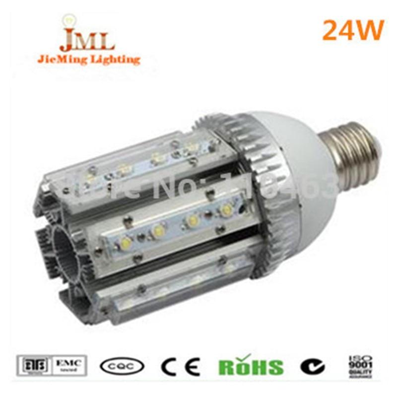 ФОТО 24w LED Corn bulb Light 360 degree Beam Angle LED Street Light E27 E40 led candle bulb lamps indoor lighting spotlight