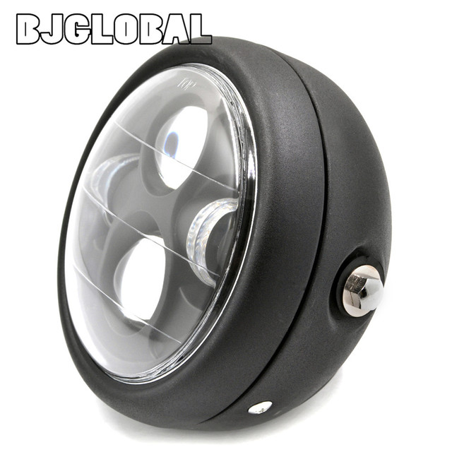 "Motorcycle Round 6 1/2"" Metal Projector Daymaker LED HeadLight For Harley Honda Yamaha Suzuki Kawasaki Chopper Bobber"