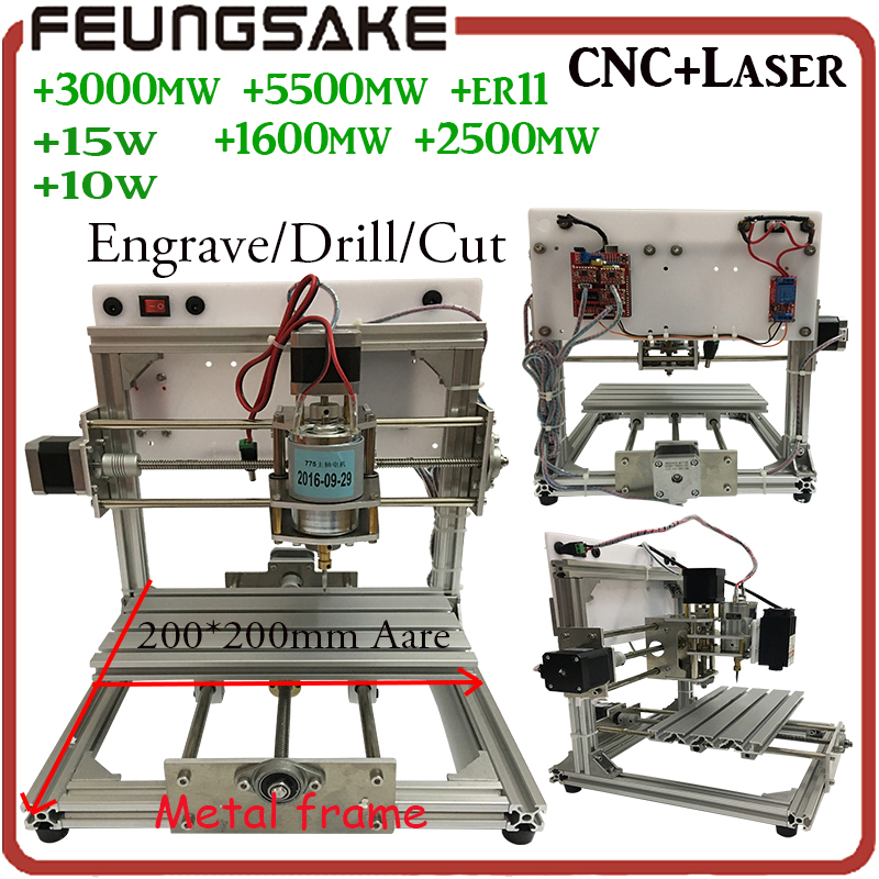 2020 cnc router PCB Milling Machine arduino CNC DIY Wood Carving,Engraving Machine PVC Engraver GRBL Wood Router fit ER11 15w 2020v diy cnc router kit mini milling machine 3 axis brass pcb cnc wood acrylic carving engraving router pvc pyrography