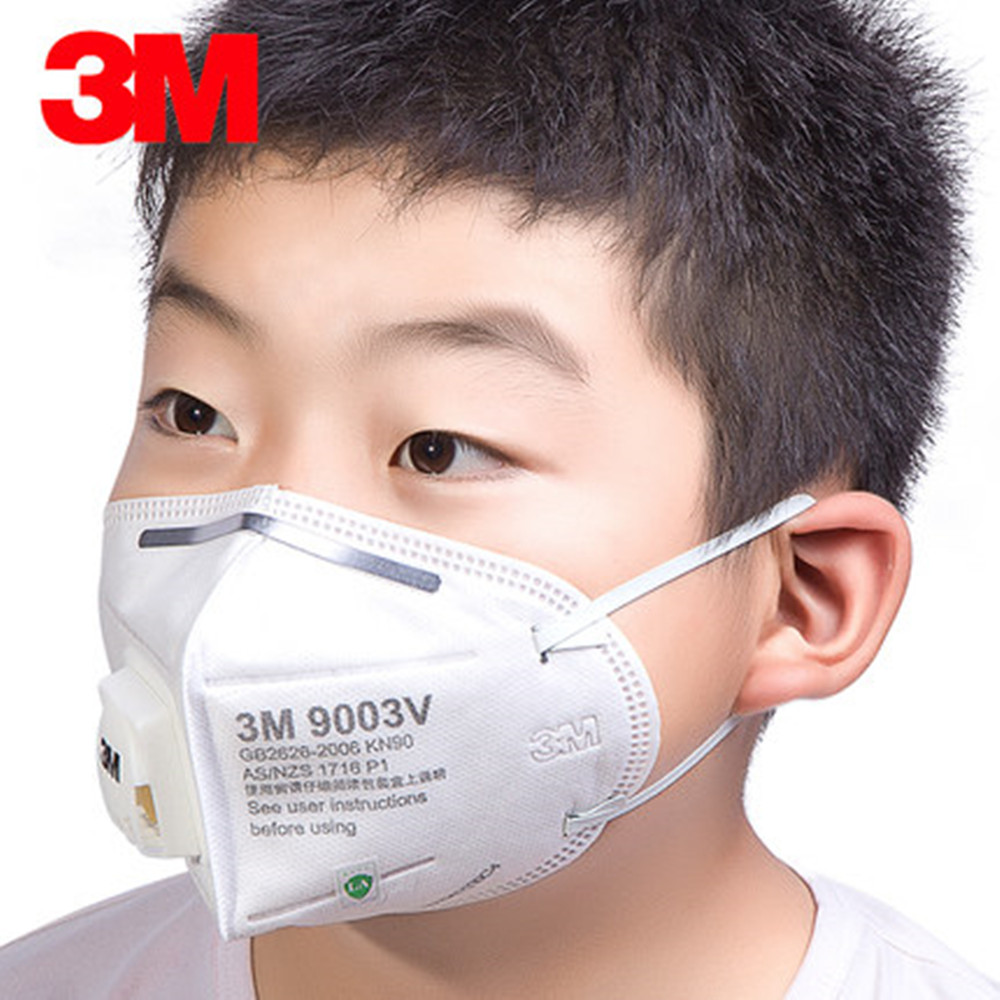 5/10pcs 3M N90 9003V Children Dust Mask Fog PM2.5 Small Safety Particulate Respirator Influenza Haze Filter Mask Breathing Valve5/10pcs 3M N90 9003V Children Dust Mask Fog PM2.5 Small Safety Particulate Respirator Influenza Haze Filter Mask Breathing Valve