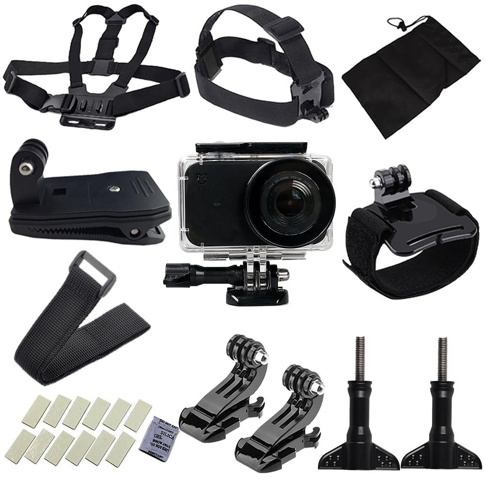 10 en 1 Sport Accessoires Pour xiaomi mijia caméra Chest Head Strap Mont forfor xiaomi mijia 4 k Mini D'action caméra