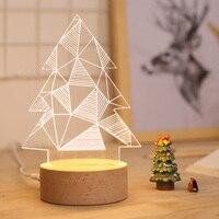 2019 neue Weihnachts baum form 3D LED Nachtlicht Romantische Tisch Lampe Für Weihnachten Dekorationen Wohnkultur-in LED-Nachtlichter aus Licht & Beleuchtung bei
