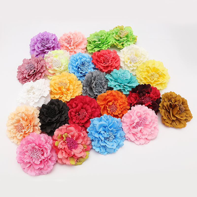 Fashion Hair flower Hair Accessories Fabric Flower Hair Clip Flower Corsage Brooch Pins Women Flower Headwear Wedding Party Gift