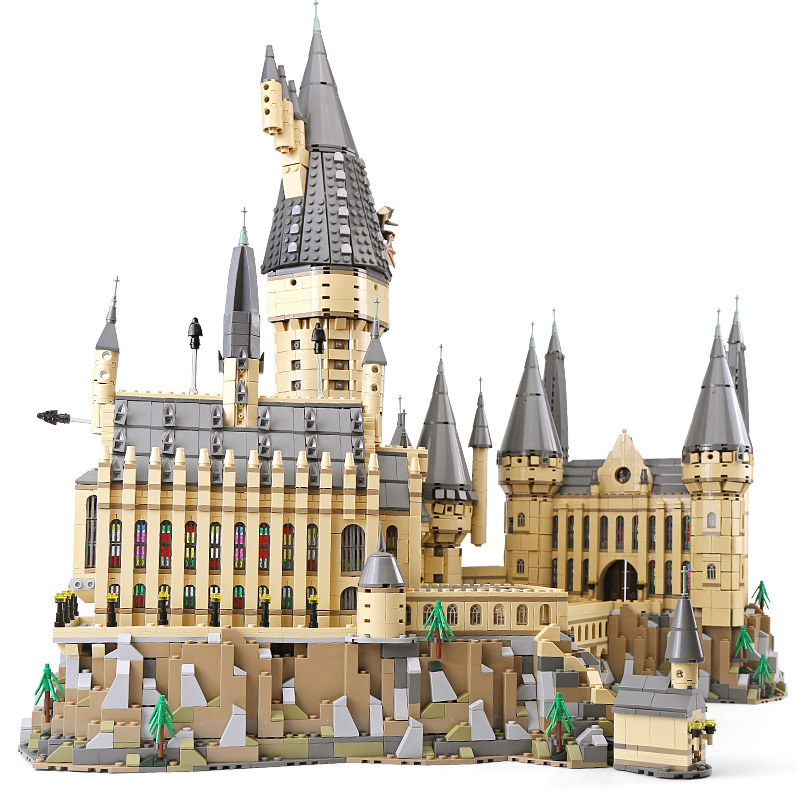 16060 Harry Movie Potter&s Magic School Legoings 71043 Hogwarts Castle Set Building Blocks Model Kids Toys Christmas Gift new pattern hogg watts magic school school badge quartz pocket watch senior high school student harry potter gift table ds281