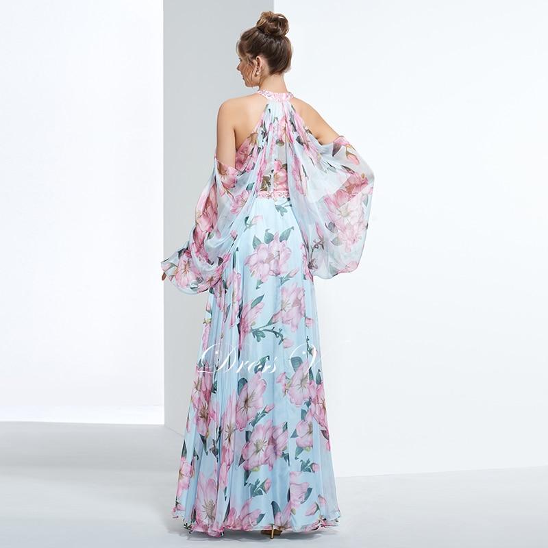 Dressv pas cher impression bal soirée robe de soirée licol une - Habillez-vous pour des occasions spéciales - Photo 2