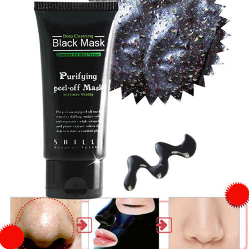 1 Piece 50ML Face Care Suction Black Mask Facial Mask Nose Blackhead Remover Peeling Peel Off