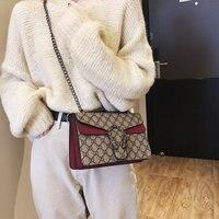 RURU monkey 2019 New Women Bag Snake Head Chain Shoulder Bags Women Zipper Fashion Bag Famale Soft Printing Crossbody Bags